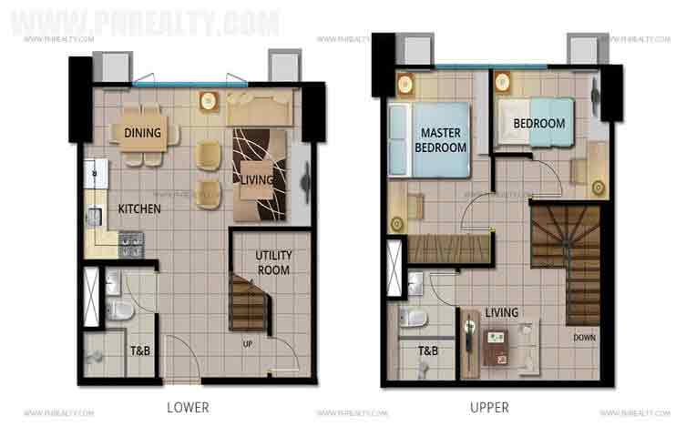 Avida Towers Verte - 2 BR Bi-Level
