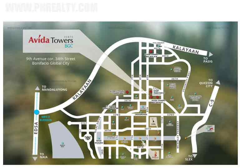 Avida Towers Verte - Location & Vicinity