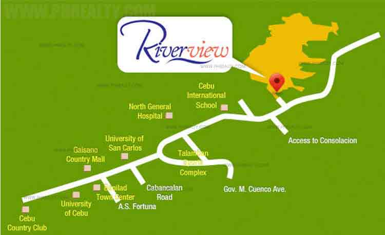 Camella Riverview - Location & Vicinity