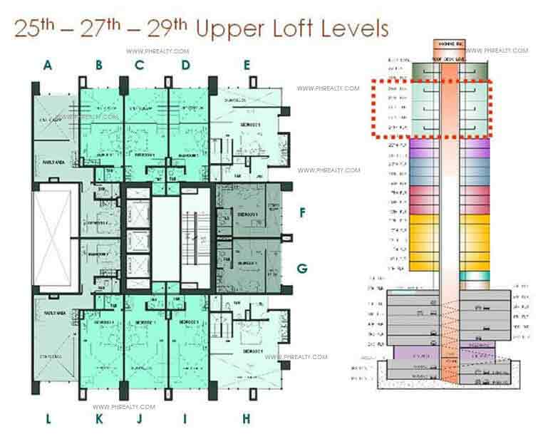 Mosaic at Greenbelt - 25th-27th-29th Upper Loft Levels