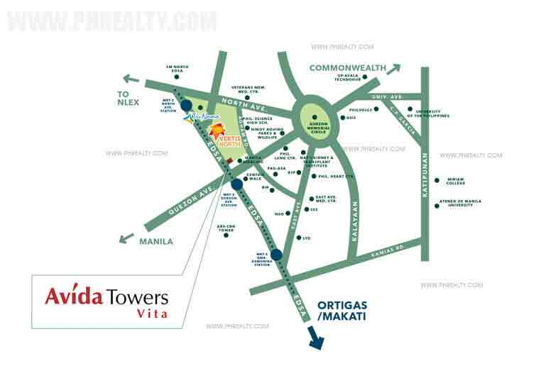 Avida Towers Vita - Location & Vicinity