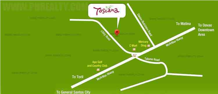 Camella Toscana - Location & Vicinity