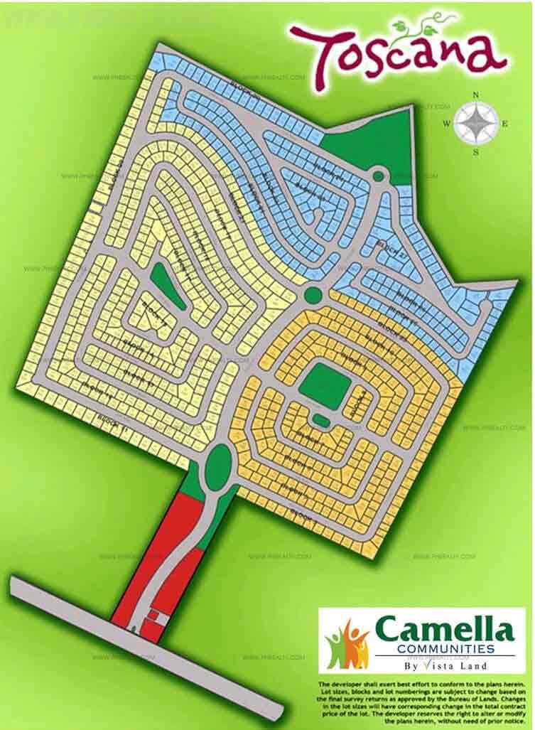 Camella Toscana - Site Development Plan