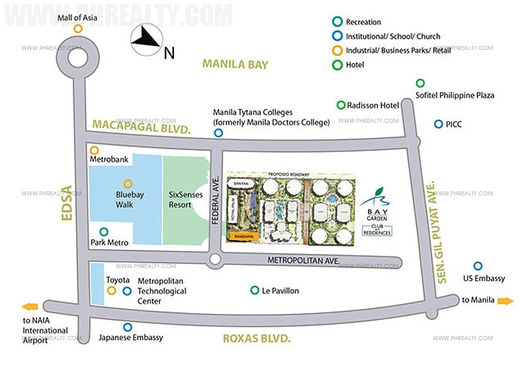 Bay Garden Club and Residences - location & Vicinity Map