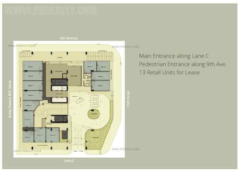 One Park Drive - Ground Floor Plan