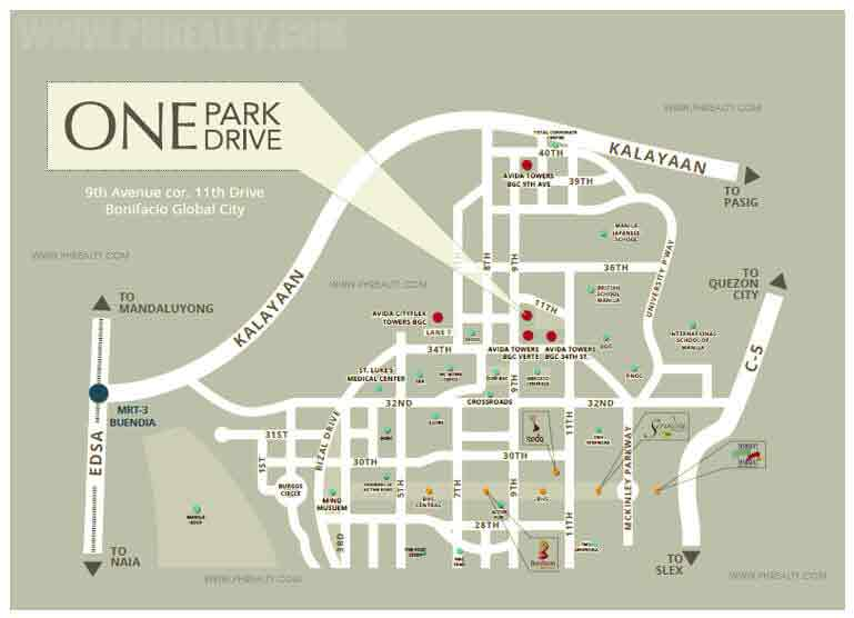 One Park Drive - Location & Vicinity