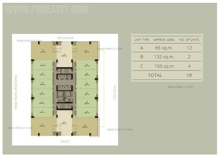 One Park Drive - Typical Floor Plan