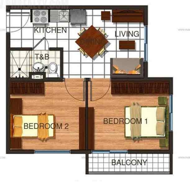 Cerritos Residences - 2BR Unit