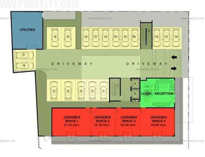 Cerritos Residences - Ground Floor Plan