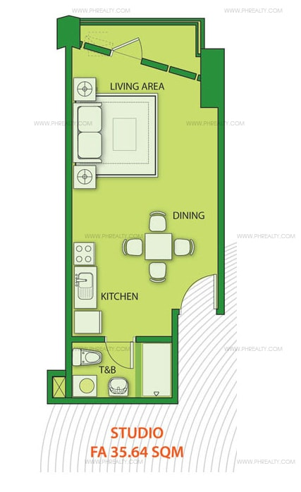 KL Mosaic - Studio Unit Layout