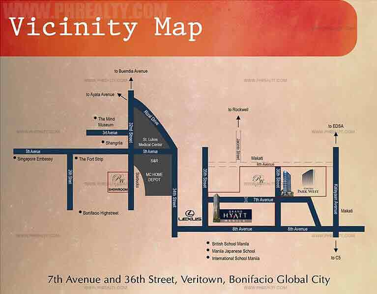 Central Park West - Location & Vicinity map