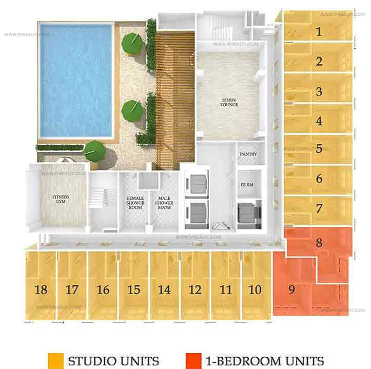 878 Espana - Amenity Floor Plan