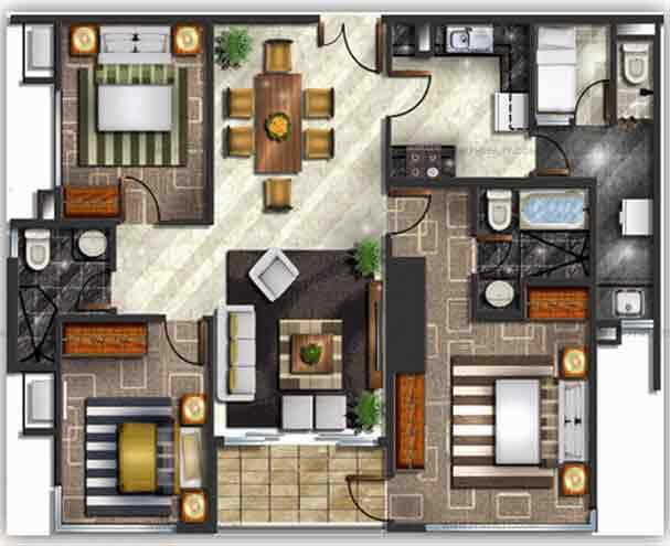 Mayfair Tower - Three Bedroom Units