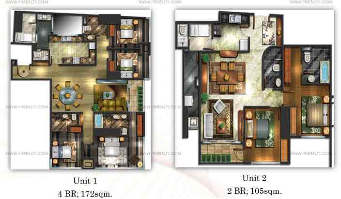 Mayfair Tower - Two Bedroom Units
