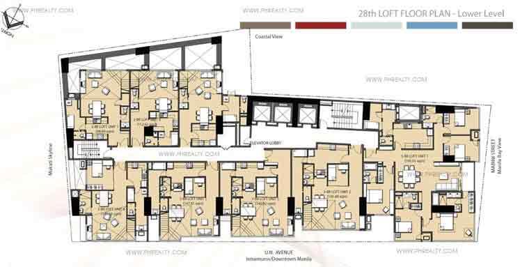 Mayfair Tower - 28th Loft Floor Plan