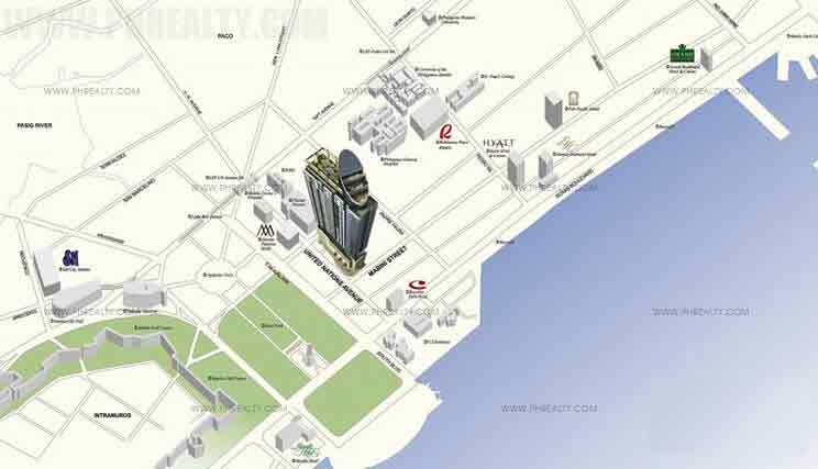 Mayfair Tower - Location Map