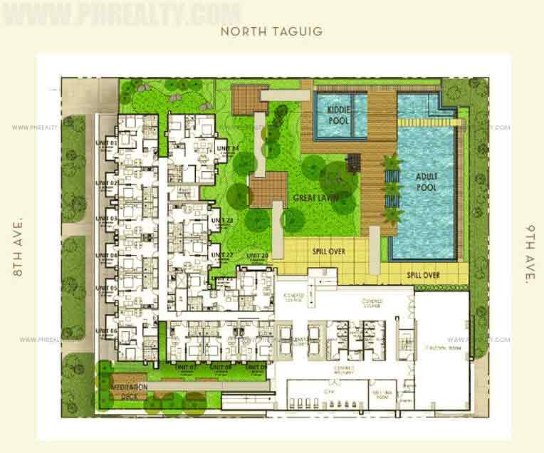 The Montane - Amenity Level Floor Plan