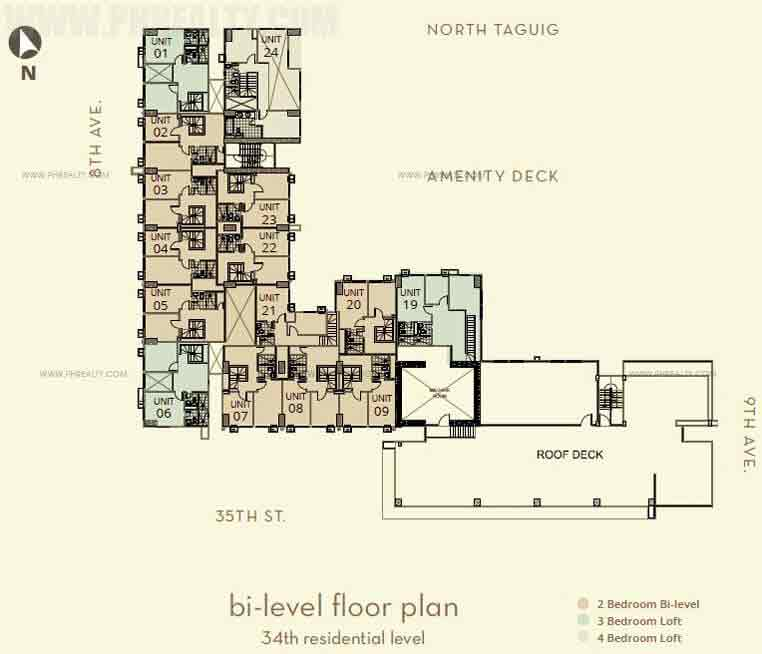 The Montane - Bi-Level Floor Plan 34th