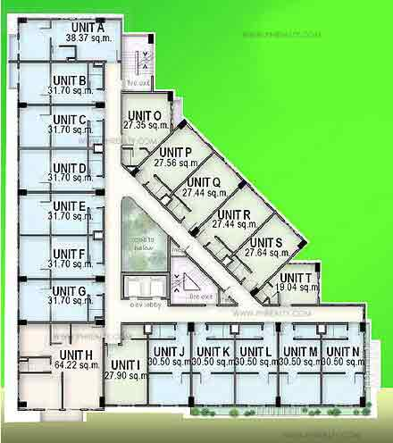 Madison Place - 4th - 8th Floor Plan