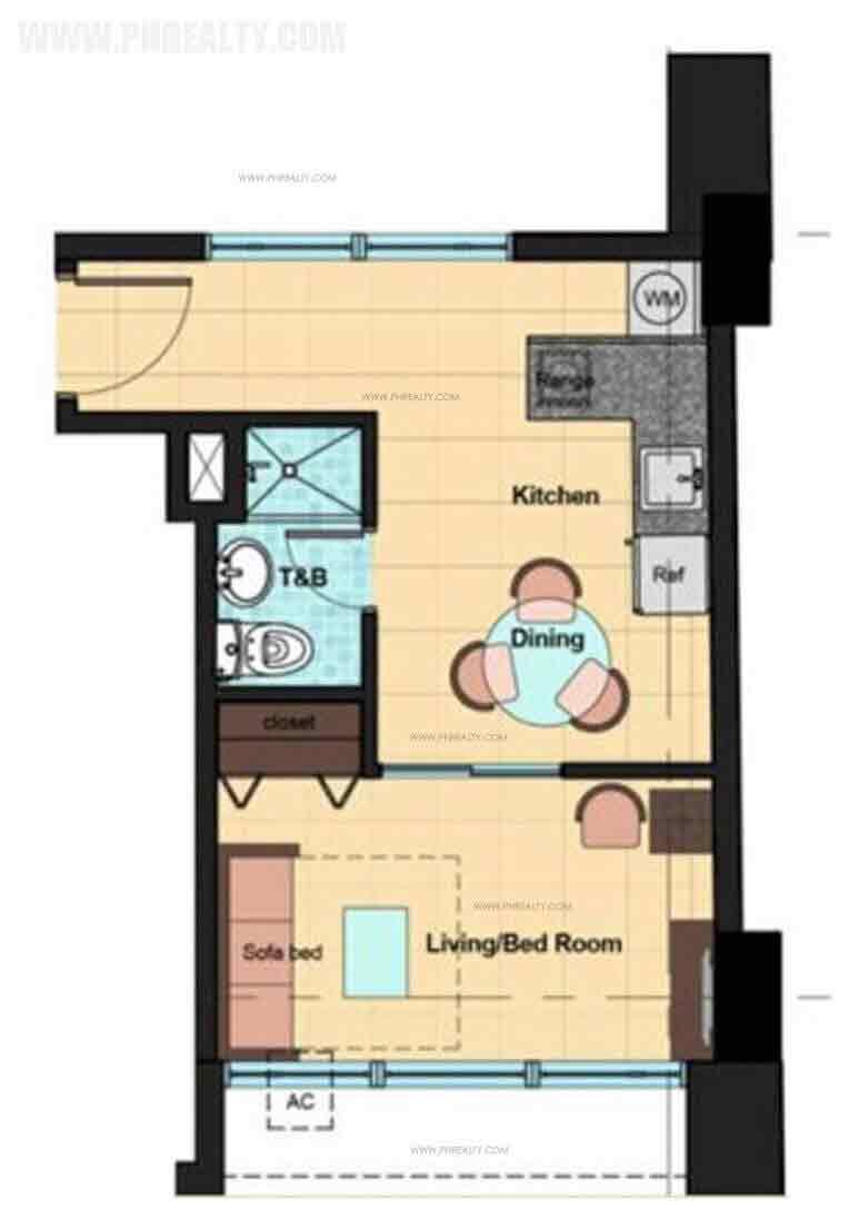 Vista Residences Taft - 1 Bedroom Unit
