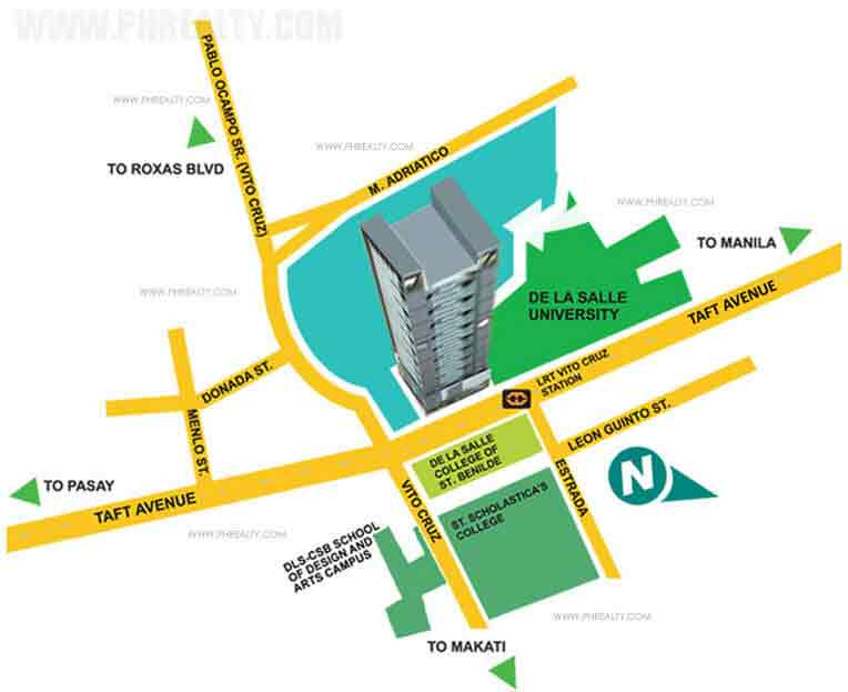 Vista Residences Taft - Location & Vicinity