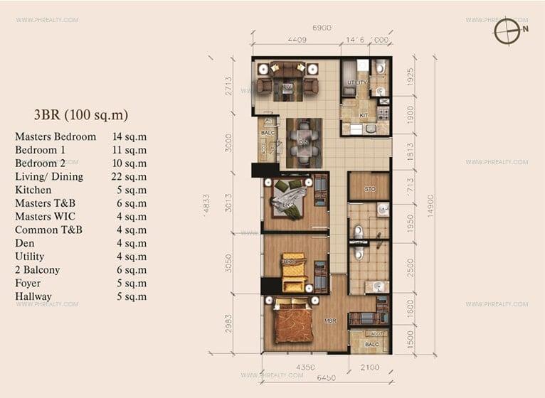 Madison Park West -  Three Bedroom