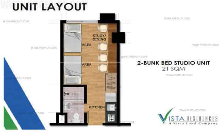 Vista Recto - 2 Bunk Bedroom studio Unit