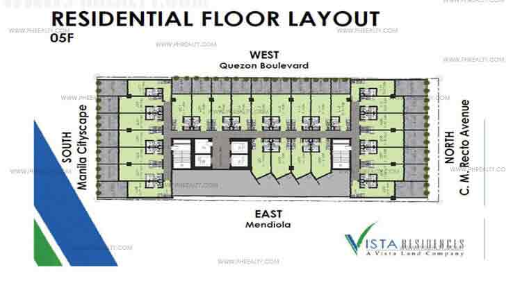 Vista Recto - 5th Floor Plan