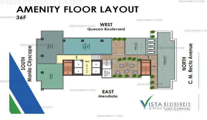 Vista Recto - 36th Floor Plan