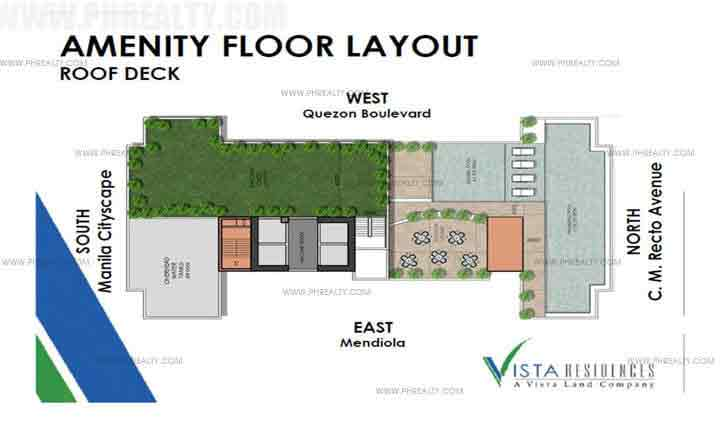 Vista Recto - Roof Deck Plan