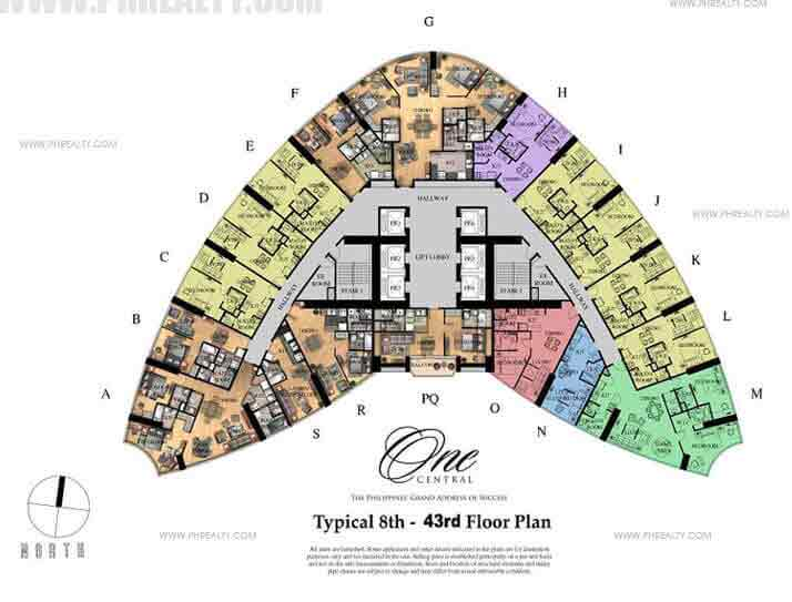 One Central - Typical Floor Plan