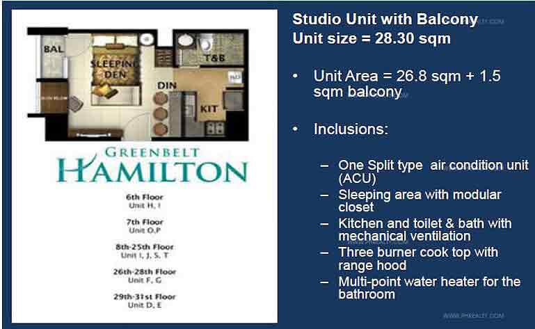 Greenbelt Hamilton - Studio Unit with Balcony