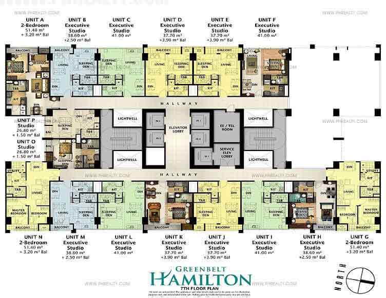 Greenbelt Hamilton - 7th Floor Plan