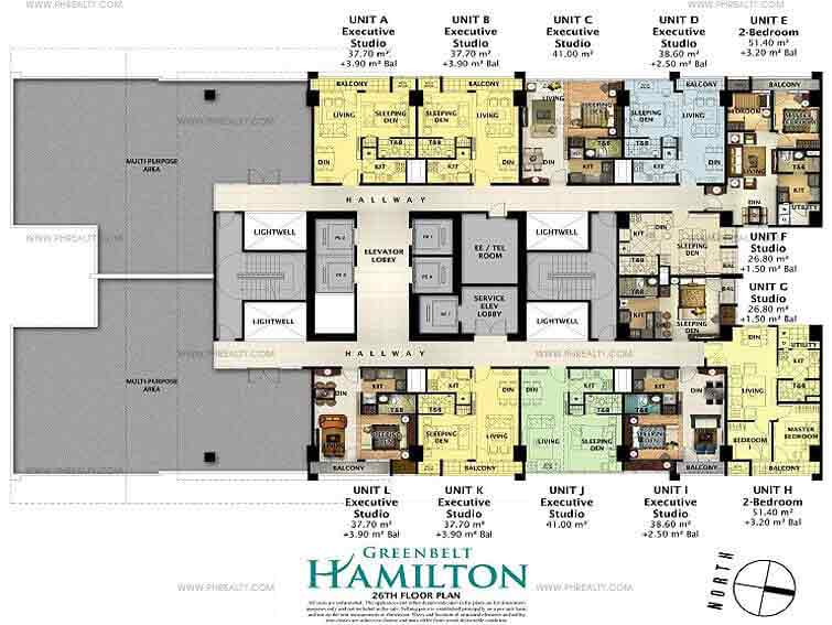Greenbelt Hamilton - 26th Floor Plan