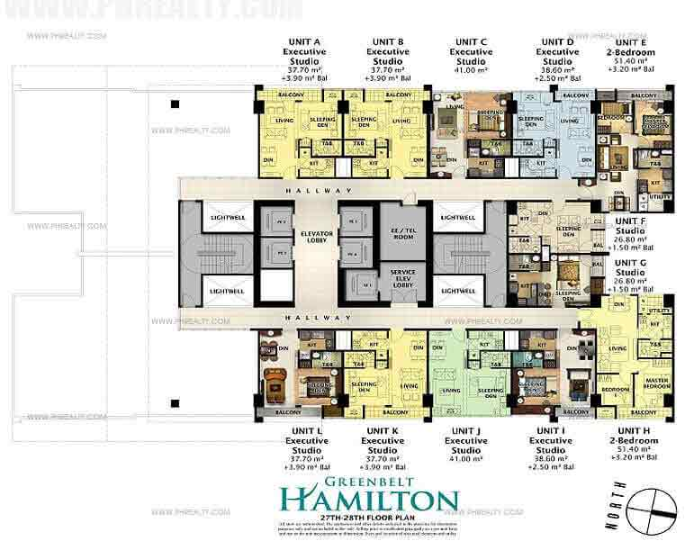 Greenbelt Hamilton - 30th-31st Floor Plan