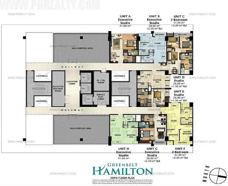 Greenbelt Hamilton - 29th Floor Plan