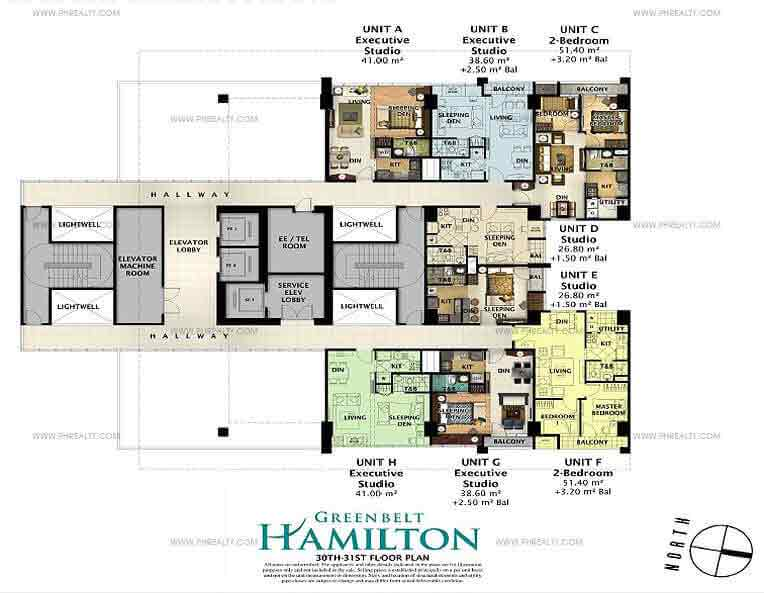 Greenbelt Hamilton - 27th-28th Floor Plan