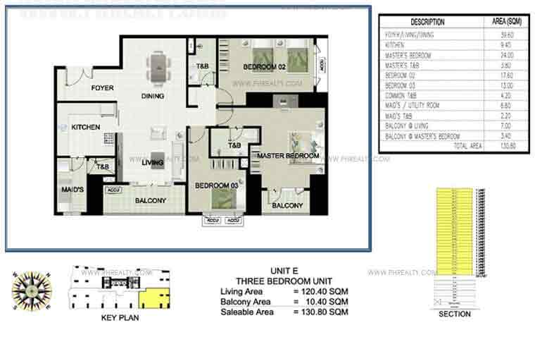 Princeview Parksuites - Unit E Three Bedroom Unit 4