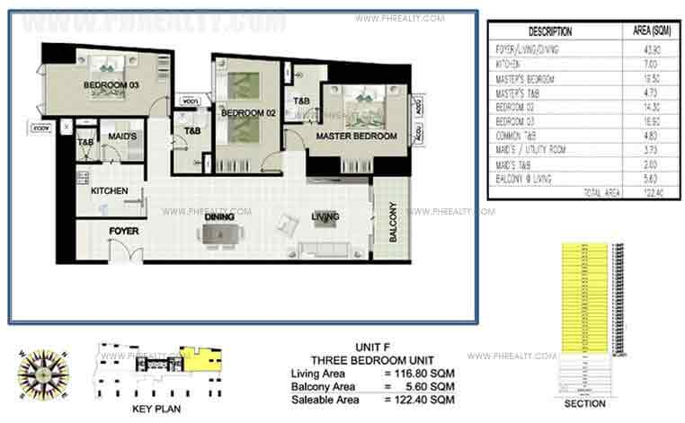 Princeview Parksuites - Unit F Three Bedroom Unit