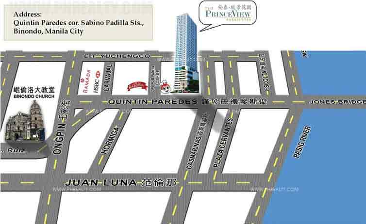 Princeview Parksuites - Location Map