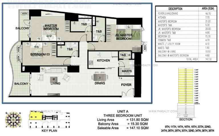 Princeview Parksuites - Unit A Three Bedroom Unit 3