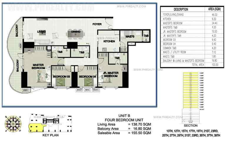 Princeview Parksuites - Unit B Four Bedroom Unit 2