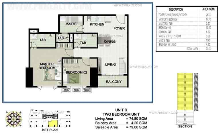 Princeview Parksuites - Unit D Two Bedroom Unit