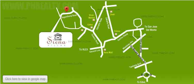Sienna Villas - Location & Vicinity