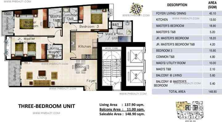Oxford Parksuites - Three Bedroom Units