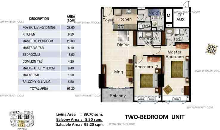 Oxford Parksuites - Two Bedroom Units