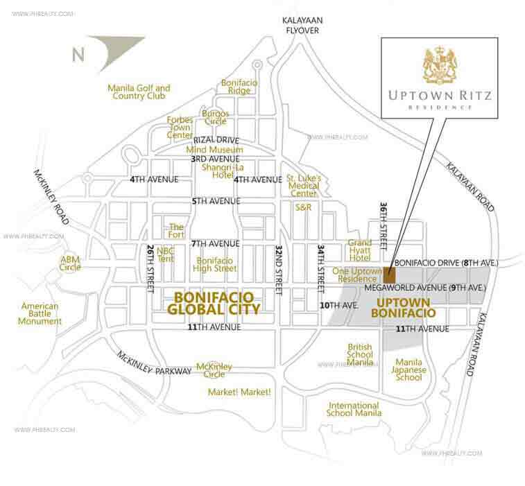 Uptown Ritz Residence - Location & Vicinity