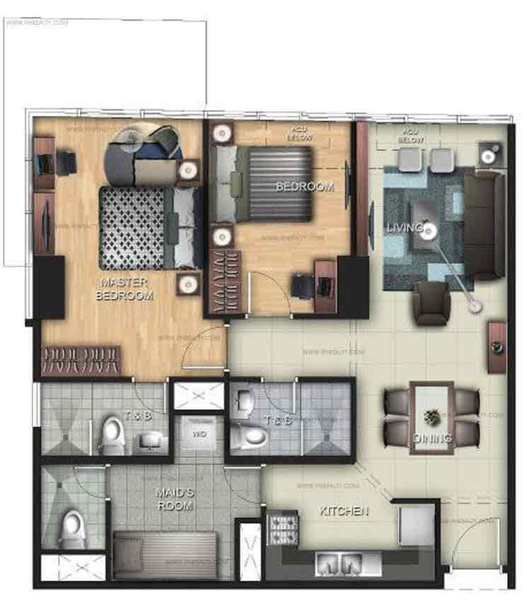 Uptown Ritz Residence - 2 BR Units C, E, H, J