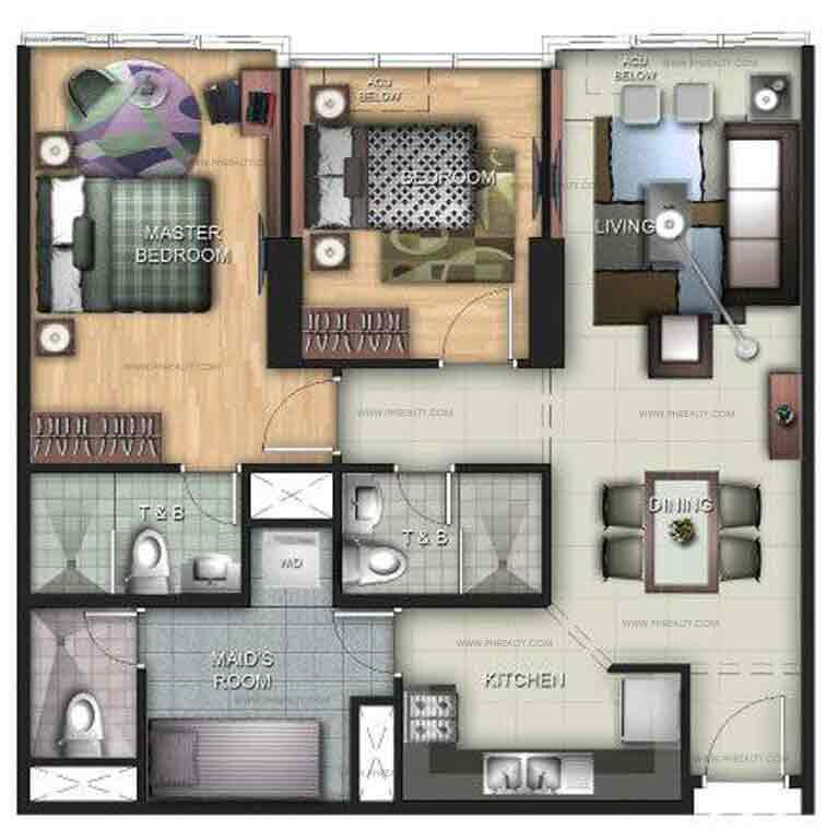 Uptown Ritz Residence - 2 BR Units D, I