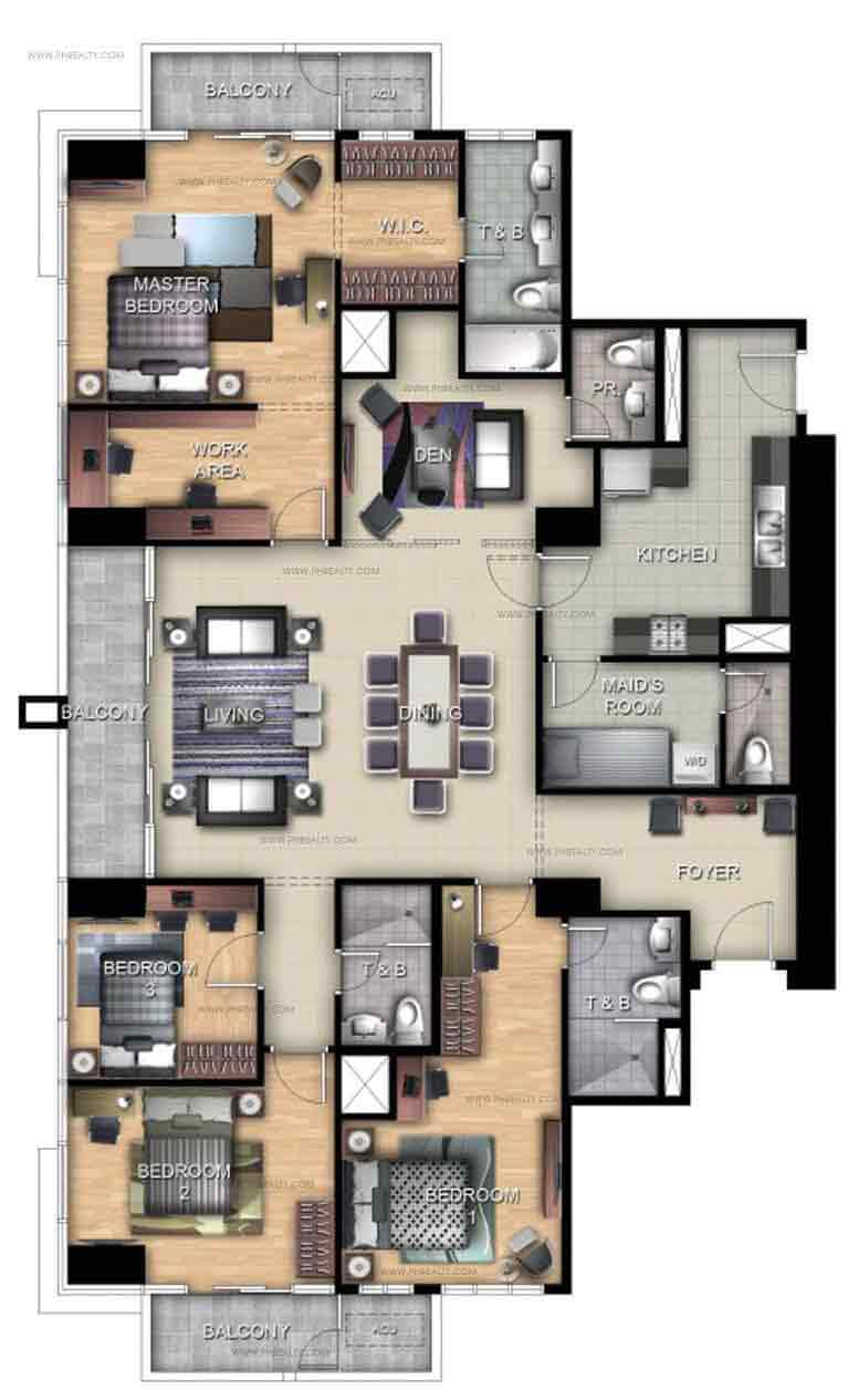 Uptown Ritz Residence - 4 BR Penthhouse Unit